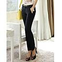 ieftine Piesă Centrală De Masă-Pentru femei Mărime Plus Size Talie Joasă Drept Larg Blugi Pantaloni Mată