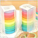 ieftine Rechizite de Școală-colorate curcubeu design tapes (set de 10) pentru școală / birou