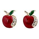 preiswerte Modische Ohrringe-Damen Ohrstecker - Strass, Diamantimitate Apple Luxus, Modisch Für Party / Alltag / Normal
