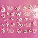 halpa 3D Tarra-1 pcs 3D Nail Stickers Lovely kynsitaide Manikyyri Pedikyyri Päivittäin Kukka / Muoti / 3D-kynsitarrat