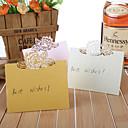 ieftine Suporturi de Cartonașe De Loc-carti de perla hârtie loc de 12 pvc sac card deținători de nunta recepție