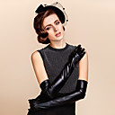 cheap Party Gloves-Leather / Polyester Opera Length Glove Classical / Bridal Gloves / Party / Evening Gloves With Solid