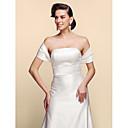 cheap Wedding Wraps-Short Sleeve Satin Wedding / Party Evening Wedding  Wraps With Shrugs
