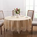 billige Duker-Moderne polyester Rund Duge Ensfarget Borddekorasjoner 1 pcs