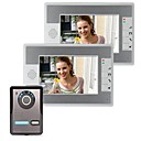 cheap Video Door Phone Systems-7 Inch Video Door Phone Doorbell Intercom Kit 1-Camera 2-Monitor Night Vision