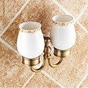 cheap Soap Dishes-Toothbrush Holder Removable Traditional Brass Ceramic 1 pc - Hotel bath