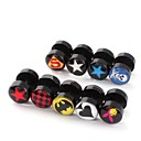 cheap Men's Bracelets-Men's Stud Earrings - Stainless Steel Star For Christmas Gifts Wedding Party
