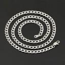 preiswerte Modische Halsketten-Damen Panzerkette Ketten - Edelstahl, Titanstahl Modisch Modische Halsketten Schmuck Für Hochzeit, Party, Alltag