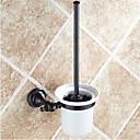 baratos Toalheiros-Suporte para Escova de Banheiro Removível Clássica Latão Cerâmica 1 Pça. - Banho do hotel