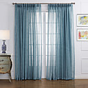 cheap Sheer Curtains-Sheer Curtains Shades Living Room Solid Colored Linen / Polyester Blend