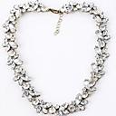 preiswerte Strandketten-Damen Synthetischer Diamant Stränge Halskette - Diamantimitate Geburtssteine Weiß Modische Halsketten Für Hochzeit, Party, Alltag