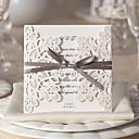 olcso Esküvői meghívók-Szétnyiló Esküvői Meghívók Meghívók Virágos stílus Kártyapapír 15*15 cm Masnik Szalagok