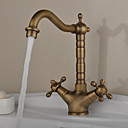 cheap Kitchen Faucets-Kitchen faucet - Antique Antique Brass Bar / ­Prep Deck Mounted