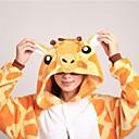 cheap Kigurumi Pajamas-Adults' Kigurumi Pajamas with Slippers Giraffe Onesie Pajamas Coral fleece Orange Cosplay For Men and Women Animal Sleepwear Cartoon Halloween Festival / Holiday