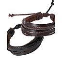 cheap Men's Bracelets-Men's Leather Bracelet - Leather Personalized, Unique Design, Fashion Bracelet Black / Brown For Dailywear Daily