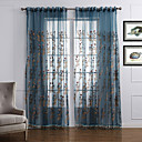 cheap Sheer Curtains-Sheer Curtains Shades Bedroom Contemporary Polyester Embroidery