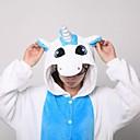olcso Kigurumi pizsamák-Felnőttek Kigurumi pizsama papuccsal Unicorn Onesie pizsama Korall flíz Kék Cosplay mert Férfi és női Allati Hálóruházat Rajzfilm Fesztivál / ünnepek Jelmez