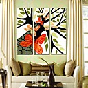 cheap Stretched Canvas Prints-Stretched Canvas Art Butterflies And Trees Set of 3