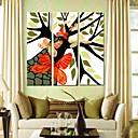 preiswerte Kunstdrucke-Leinwandkunst Schmetterlinge und Bäume Set von 3