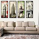 رخيصةأون باروكات كابلس صناعية-كنفس مؤطر مجموعة مؤطرة هندسة معمارية جدار الفن, PVC مادة مع الإطار تصميم ديكور المنزل الفن الإطار غرفة الجلوس غرفة النوم مطبخ غرفة الطعام