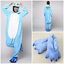cheap Kigurumi Pajamas-Adults' Kigurumi Pajamas with Slippers Duck Hippo Onesie Pajamas Coral fleece Blue Cosplay For Men and Women Animal Sleepwear Cartoon Festival / Holiday Costumes