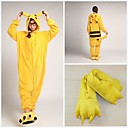 cheap Kigurumi Pajamas-Adults' Kigurumi Pajamas with Slippers Pika Pika Onesie Pajamas Costume Coral fleece Yellow Cosplay For Animal Sleepwear Cartoon Halloween Festival / Holiday / Christmas