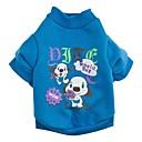 billige Neglestempling-Kat / Hund T-shirt Hundetøj Tegneserie Rose / Grøn / Blå Bomuld Kostume For kæledyr