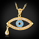 رخيصةأون مجموعات المجوهرات-للمرأة قلائد الحلي - مطلية بالذهب قطرة موضة قلادة مجوهرات من أجل يوميا