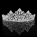 cheap Party Headpieces-Personalized Cubic Zirconia Hair Hoop Wedding Tiara Headpiece