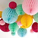 hesapli Fanlar ve Plaj Şemsiyeleri-10 inç petek doku kağıt çiçek top (daha fazla renk)