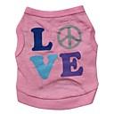 billige Hundetøj-Kat Hund T-shirt Hundetøj Bogstav & Nummer Lys pink Bomuld Kostume For kæledyr