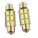 baratos Luzes de Circulação Diurna-2pcs 36mm Carro Lâmpadas 1.2W SMD 5630 6