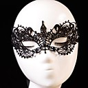 cheap Halloween Masks-Carnival Mask Men's Women's Halloween Festival / Holiday Halloween Costumes Outfits Black Solid Colored Lace