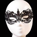 preiswerte Parykopfbedeckungen-Karnival Maske Herrn Damen Halloween Fest / Feiertage Halloween Kostüme Schwarz Solide Spitze