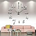 baratos Relógios de Parede Modernos/Contemporâneos-Moderno / Contemporâneo Aço Inoxidável Redonda Interior,AA