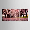 cheap Prints-Stretched Canvas Print Canvas Set Landscape Three Panels Horizontal Print Wall Decor Home Decoration