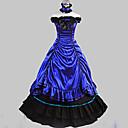 abordables Disfraces Históricos y Vintage-Victoriano Rococó Disfraz Mujer Vestidos Baile de Máscaras Ropa de Fiesta Cosecha Cosplay Algodón Satín Sin Mangas Longitud Larga