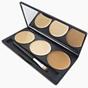 baratos Blush-3 cores Pós Concealer / Contour Pincéis de Maquiagem Secos / Mate Corretivo Rosto Maquiagem Cosmético