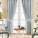 preiswerte Parykopfbedeckungen-zwei Platten classic Polyester-Baumwoll-Mischung blaue Energiesparvorhang