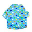 preiswerte Hundekleidung-Wellenpunktmuster Terylene T-Shirt für Hunde (blau XS-L)