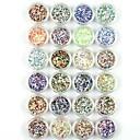 baratos Strass & Decorações-24 pcs Glitter & Poudre / Pó acrílico / Pó Abstracto / Clássico / Casamento Adorável Diário