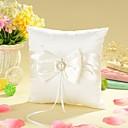 billige Blomsterkurver-Sløyfe / Imiterte Perler Sateng Ringpute Hage Tema