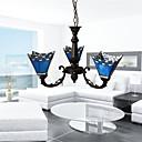 preiswerte Nagel Design-4-Licht Kerzen-Stil Kronleuchter Deckenfluter Galvanisierung Metall Glas Candle-Art 110-120V / 220-240V Glühbirne nicht inklusive / E26 / E27