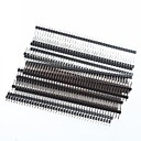 cheap Other Parts-1 x 40 Pin 2.54mm Pitch Single Row Right Angle PCB Pin Headers (20pcs)