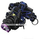 זול פנסים-פנסי ראש פנס קדמי LED 1800 lm 3 מצב LED עם סוללות ומטענים נטענת עמיד במים מחנאות/צעידות/טיולי מערות שימוש יומיומי רכיבה על אופניים ציד רב