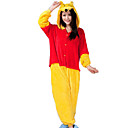 cheap Window Film & Stickers-Adults' Kigurumi Pajamas Bear Onesie Pajamas Flannel Toison Yellow Cosplay For Men and Women Animal Sleepwear Cartoon Festival / Holiday Costumes