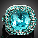 cheap Rings-Women's Crystal Statement Ring - Cubic Zirconia, Alloy Fashion One Size Screen Color For Party