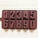 olcso Sütiformák-számok alakja torta forma jég zselés csokoládé penész, szilikon 22 × 11,2 × 2 cm (8,7 × 4,4 × 0,8 inch)