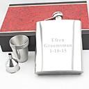 preiswerte Customized Trinkgefäße-personalisiertes Geschenk Silber 18 Unzen Edelstahl Flachmann-Set