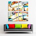 baratos Impressões-Estampados de Lonas Esticada Conjuntos de Lona Fantasia 4 Painéis Quadrada Estampado Decoração de Parede Decoração para casa